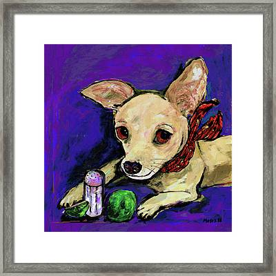The Lovely Ms. Tecate Guarding Her Salt And Lime Framed Print by Dale Moses
