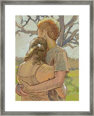 The Lovers Framed Print by Dominique Amendola