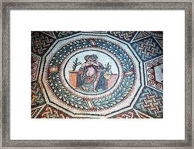 The Lovers Embrace In Piazza Armerina Framed Print
