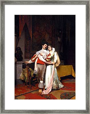 The Lovers Farewell Framed Print by Alfonso Savini