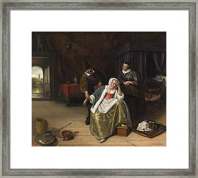 The Lovesick Maiden Framed Print by Jan Steen