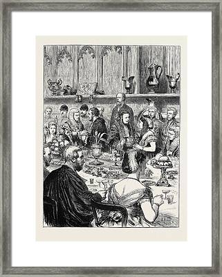 The Loving Cup A Sketch At The Lord Mayors Banquet Framed Print