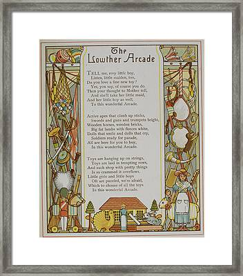 The Lowther Arcade Framed Print by British Library