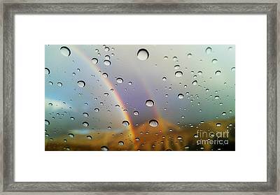 Framed Print featuring the photograph The Luck Of Rain by Chris Tarpening