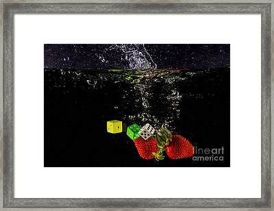 The Lucky 7 Splash Framed Print by Rene Triay Photography