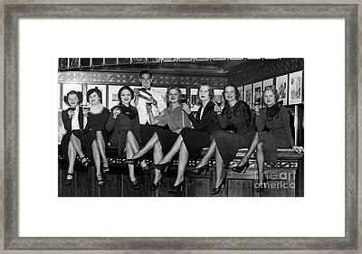 The Lucky Bartender Framed Print by Jon Neidert