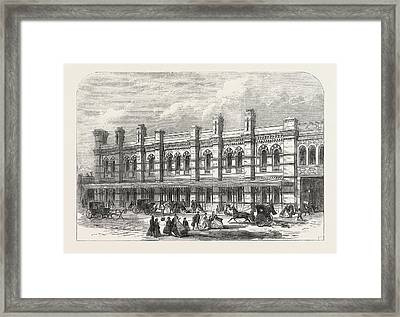The Ludgate-hill Station Of The London, Chatham Framed Print by English School