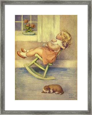 The Lullaby Framed Print by Bessie Pease Gutmann
