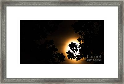 The Lunar Glow Framed Print by Optical Playground By MP Ray