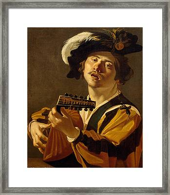 The Lute Player Framed Print by Dirck van Baburen