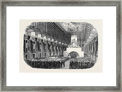 The Lying In State In The Church  Santa Chiara Obsequies Framed Print
