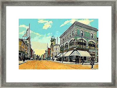 The Lyric Theatre In Jersey City N J Around 1910 Framed Print by Dwight Goss