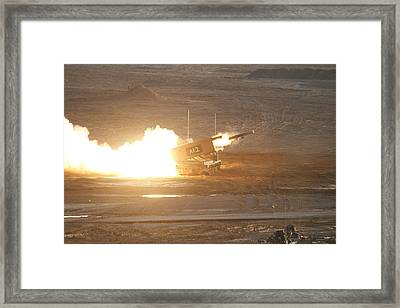 The M270 Multiple Launch Rocket System Framed Print