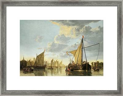 The Maas At Dordrecht Framed Print by Aelbert Cuyp