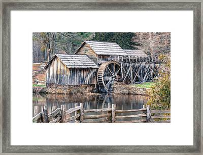 Framed Print featuring the photograph The Mabry Mill - Blue Ridge Parkway - Virginia by Gregory Ballos