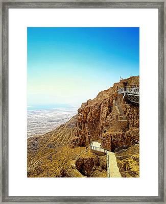 The Machabees And Their Masada Framed Print by Sandra Pena de Ortiz