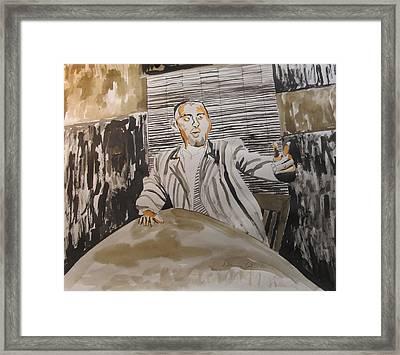 The Macher Framed Print by Esther Newman-Cohen