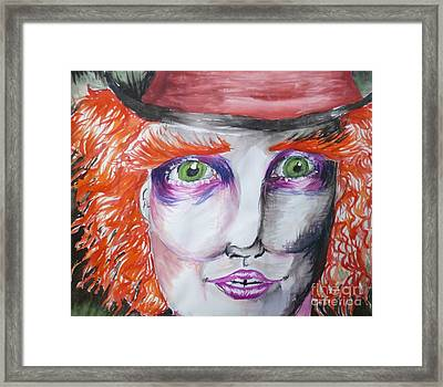 The Mad Hatter Framed Print by Isobelle Rothery-Smith