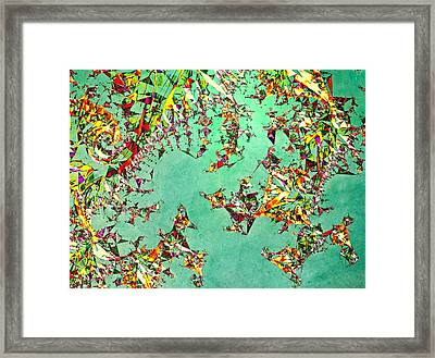 The Mad Hatter's Fractal Framed Print by Susan Maxwell Schmidt