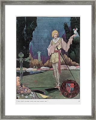 The Mad Prince Framed Print by British Library