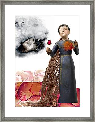 The Maddening Wind Framed Print by Maria Jesus Hernandez