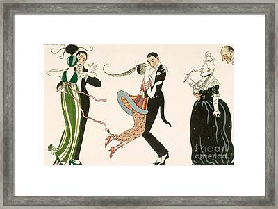The Madness Of The Day Framed Print by Georges Barbier