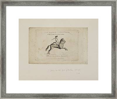 The Madras Tyrant Framed Print by British Library