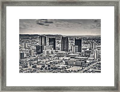 The Magic City Bw Framed Print