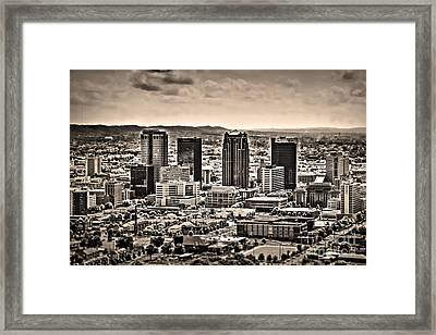 The Magic City Sepia Framed Print