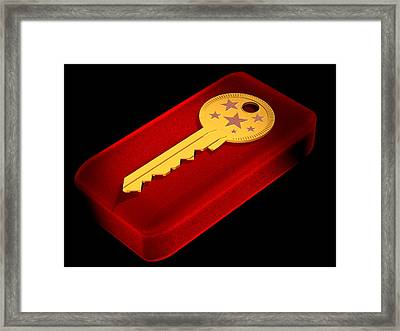 The Key To Happiness Framed Print by Andreas Thust