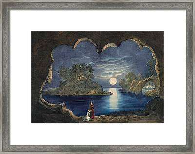 The Magic Lake Circa 1856  Framed Print by Aged Pixel
