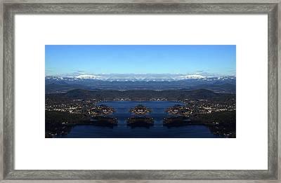 The Magic Lake Framed Print by Sir Josef - Social Critic - ART