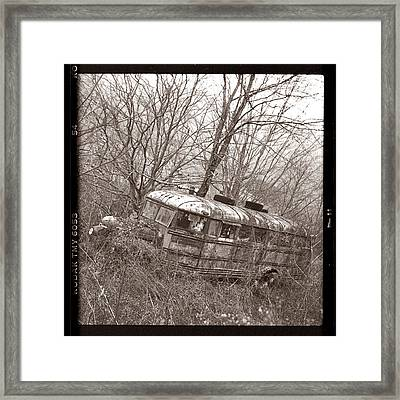 The Magic School Bus Gone Terribly Wrong Framed Print by Martin Seelig