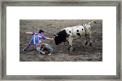 Rodeo The Magic Touch Framed Print by Bob Christopher