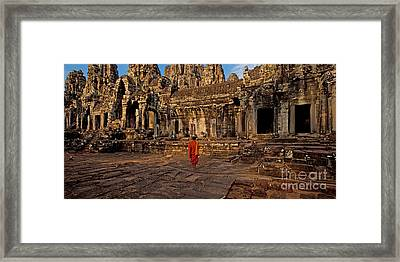 The Magical Light Of Bayon  Framed Print by Pete Reynolds