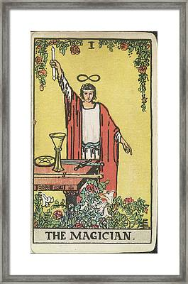 The Magician Framed Print by British Library