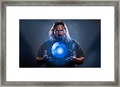 Framed Print featuring the photograph The Magician  by Joshua Minso