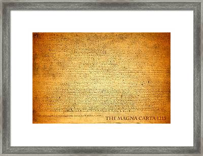 The Magna Carta 1215 Framed Print
