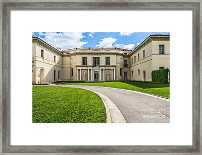 The Magnificent Huntington Art Gallery. Framed Print