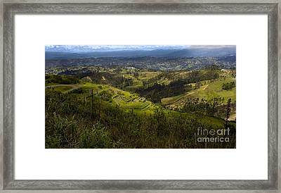 The Magnificent View From Cojitambo Framed Print by Al Bourassa