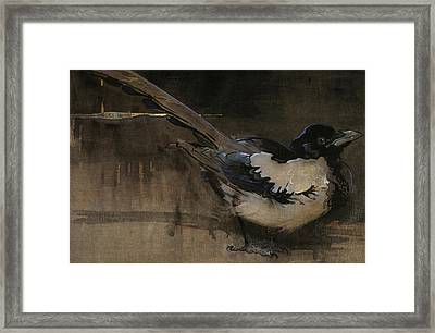 The Magpie Framed Print by Joseph Crawhall