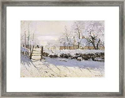 The Magpie Snow Effect Framed Print