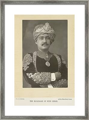 The Maharajah Of Kuch Behar Framed Print by British Library