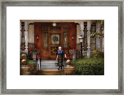 The Maid Framed Print by Mike Savad