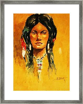 The Maiden Ll Framed Print by Al Brown