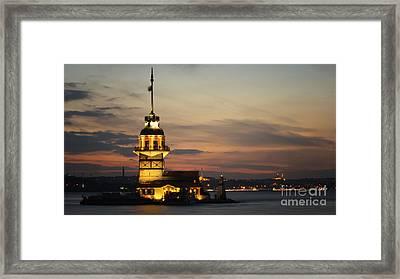 The Maiden Tower Framed Print by Merthan Kortan