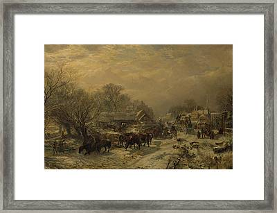 The Mail Coach, 1855 Framed Print by Samuel Bough