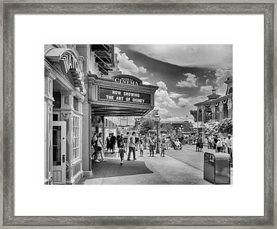The Main Street Cinema Framed Print by Howard Salmon