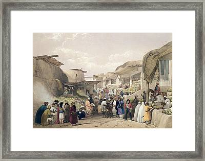 The Main Street In The Bazaar Framed Print