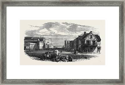 The Main Street Of Port Elizabeth Algoa Bay Cape Colony 1866 Framed Print
